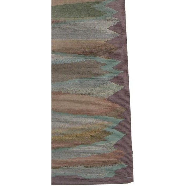 Ca.1920 Antique Traditional American Hook Runner Rug 11'4'' X 2'10'', Handmade and Hand-Knotted, Wool Rug. Traditional and...