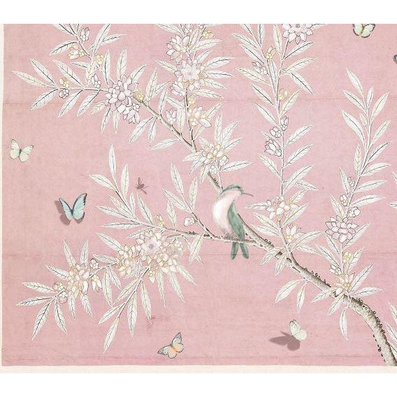Kenneth Ludwig Chicago Chinoiserie Art in Blush For Sale - Image 4 of 5