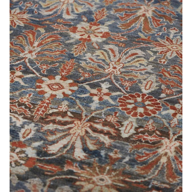 Late 19th Century Handwoven Malayer Wool Rug For Sale - Image 9 of 10