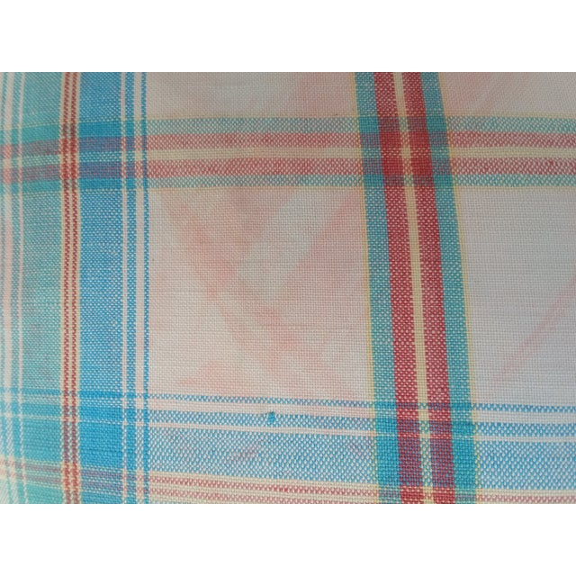 1970's Madras Plaid Pillows - Image 5 of 6