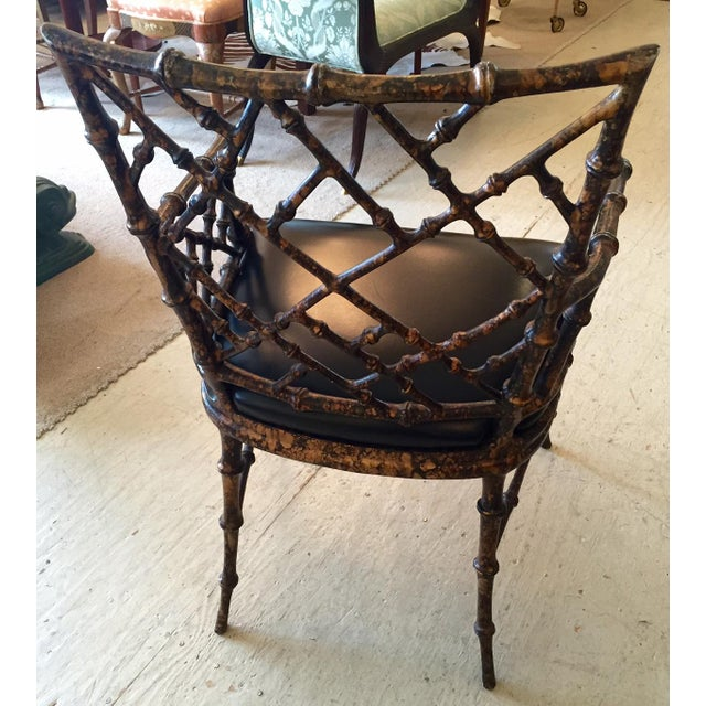 Chippendale Style Painted Iron Chairs - A Pair - Image 6 of 7