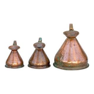 Vintage Copper Haystacks - Set of 3 For Sale