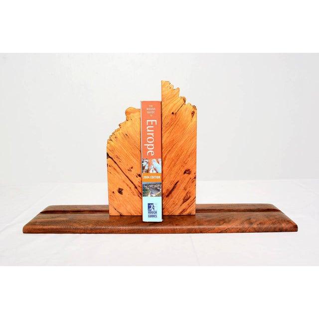 Brown Pair of Burl Wood & Walnut Studio Book Holder For Sale - Image 8 of 9