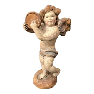 19th. Century Venetian Hand Carved Petite Sculpture For Sale