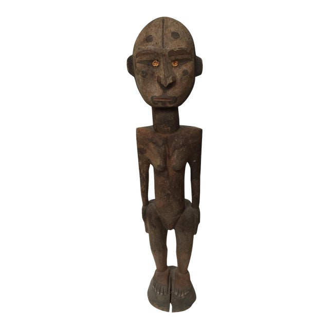 Sepik River Papua New Guinea Wooden Female Figure For Sale