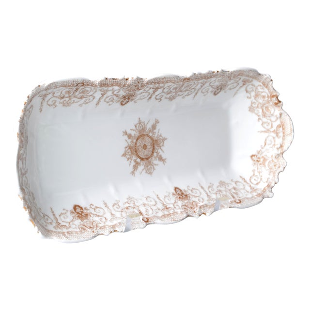 Art Nouveau LS&S Carlsbad Porcelain Tray For Sale