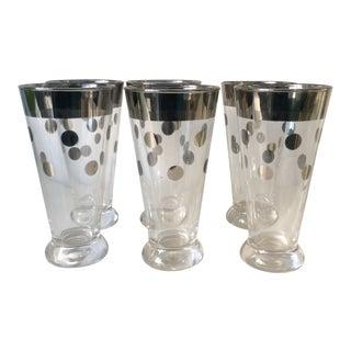 Silver Dot Glasses - Set of 6