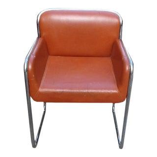 Vintage John Stuart Mid-Century Modern Chrome Desk Lounge Dining Armchairs