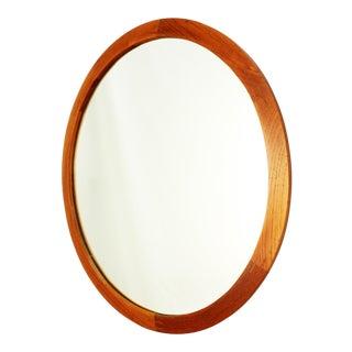 Aksel Kjersgaard for Odder Møbler Round Danish Teak Mirror