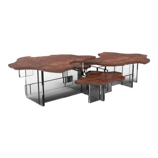 Covet Paris Monet Walnut Coffee Table For Sale