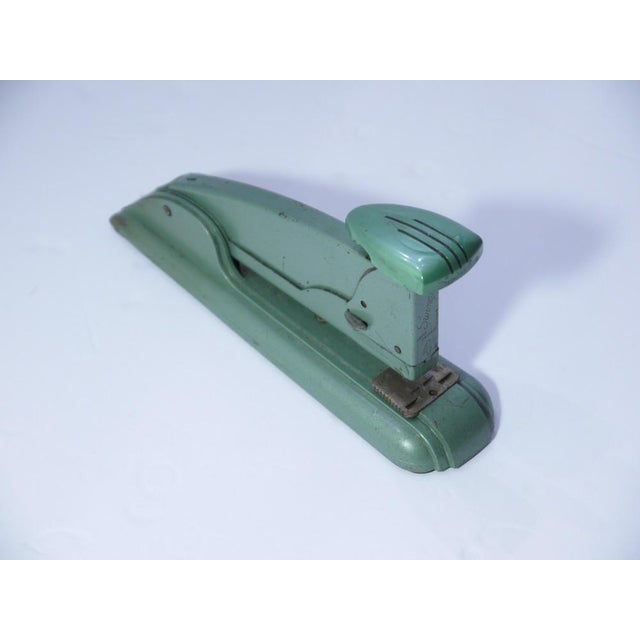 1920s Marble Green Art Deco Stapler For Sale - Image 5 of 5