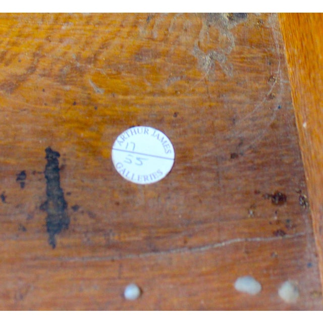 Antique Mid-19 Century American Side Table in Ribbon Satinwood and Marble For Sale - Image 11 of 13