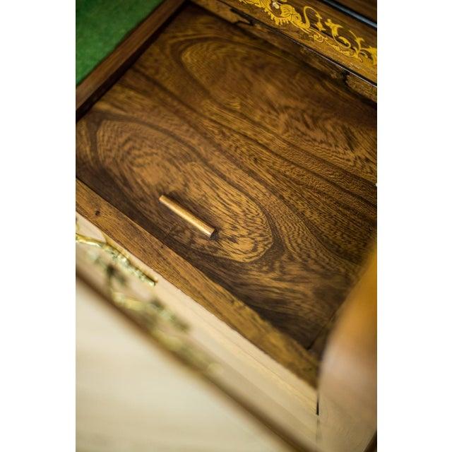 Neoclassical Elm Secretary Desk, circa the 19th Century For Sale - Image 3 of 13