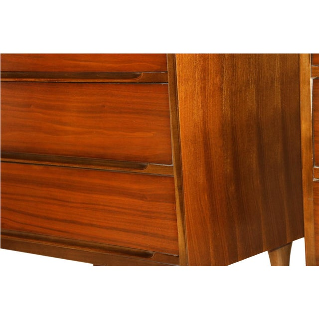 Mid-Century Walnut Chest Nightstands- A Pair - Image 10 of 10