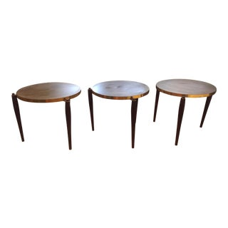 Mid-Century Modern Accent Tables - Set of 3
