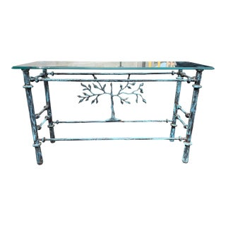 Giacometti Inspired Tree of Life Console Table For Sale