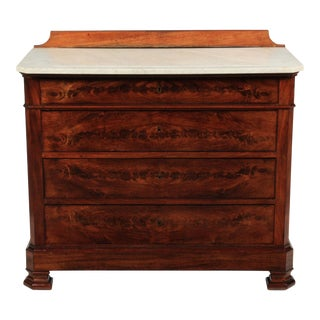 1840s Louis Philippe-Style Marble Top Chest