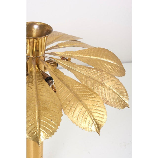 Tommaso Barbi Rare and Impressive Brass Rhaburb Floor Lamp by Tommaso Barbi For Sale - Image 4 of 11