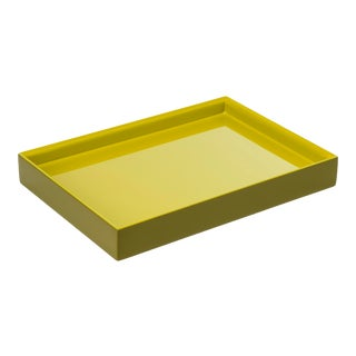 Pentreath & Hall Collection Small Tray in Olive Green / Chartreuse For Sale