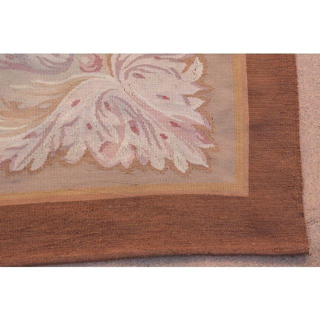 Mid 20th Century French Aubusson Rug For Sale - Image 5 of 9