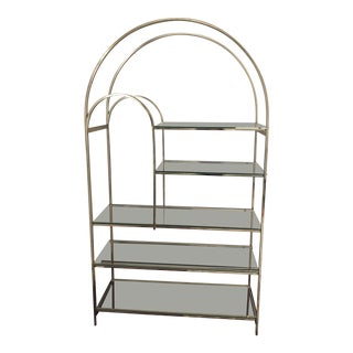 20th Century Hollywood Regency Arched Etagère For Sale