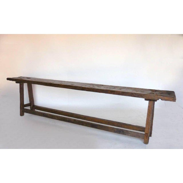 19th Century Wooden Console Table For Sale - Image 9 of 9
