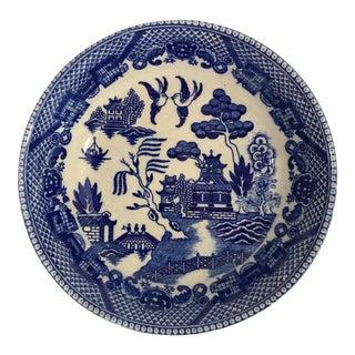 Vintage Blue Willow Porcelain Bowl For Sale