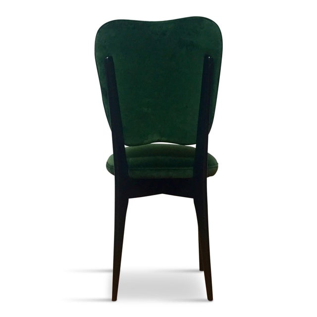 Ico Parisi 1960s Mid-Century Modern Green Upholstered Dining Chairs - Set of 6 For Sale - Image 4 of 8