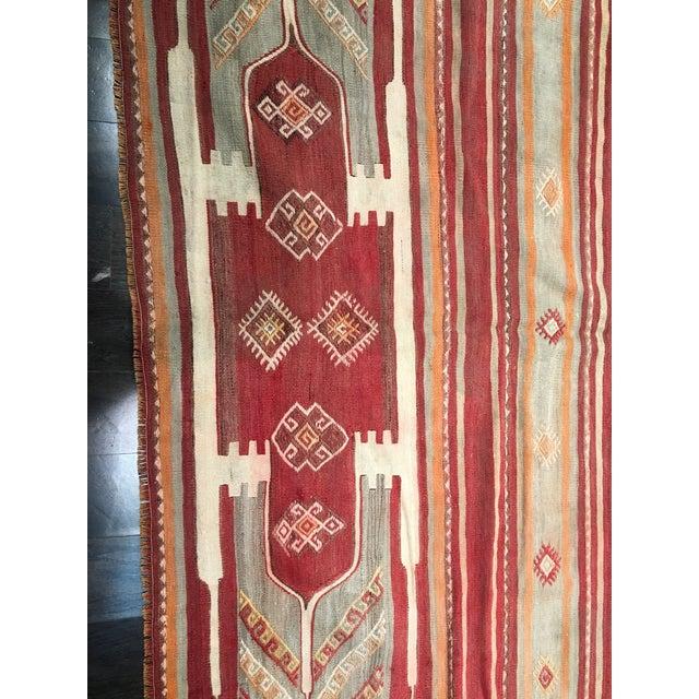 """Bellwether Rugs Vintage Turkish Kilim Rug - 4'11"""" x 7'9"""" - Image 4 of 9"""