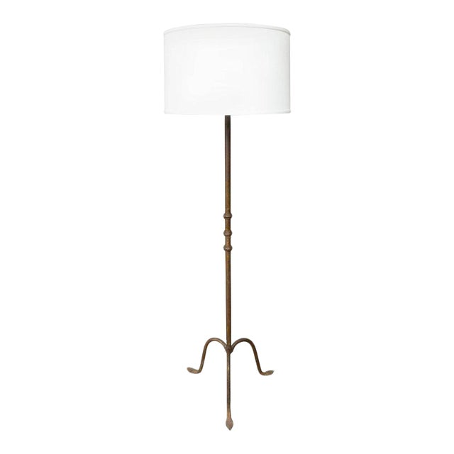 French Iron Floor Lamp With a Tripod Base - Image 1 of 5