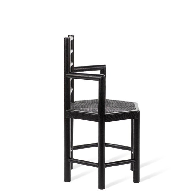 Contemporary Tamarisk Chair in Black For Sale - Image 3 of 6