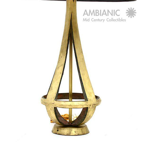 Pair of Brass Table Lamps Attributed to Arturo Pani - Image 4 of 5