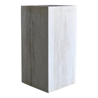 Travertine Pedestal, 1980 For Sale