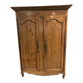 18th Century French Fruitwood Armoire For Sale