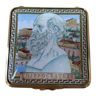 Halcyon Days Enamels Hippocrates Box For Sale
