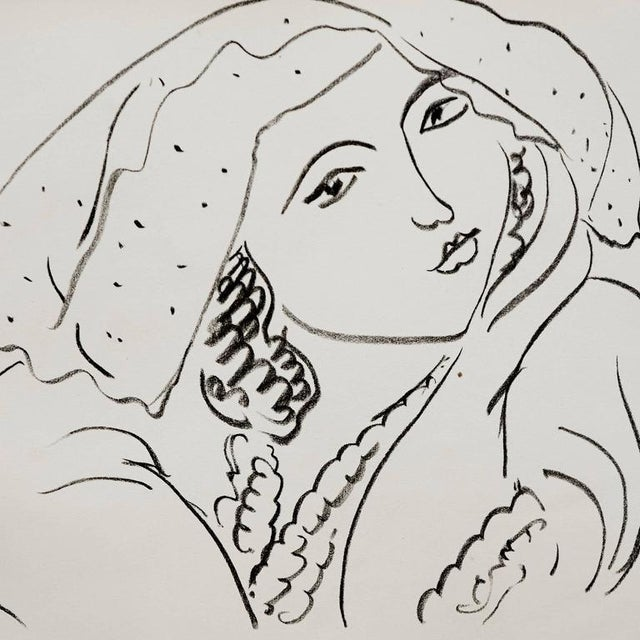 Lithograph after Original Matisse Drawing, 1942 - Image 3 of 5
