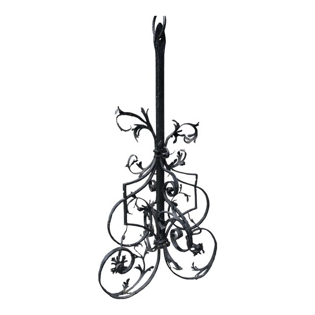16th Century Continental Hand Forged Wrought Iron Cremaillere Kitchen Tool Holder For Sale