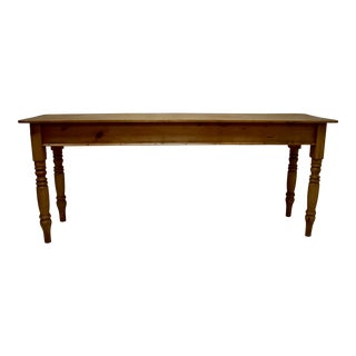 English Pine Grain-Painted Writing Slope on Stand For Sale