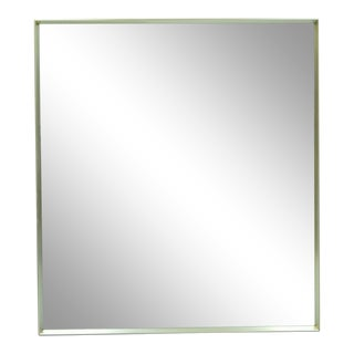 Vintage Hart Mid Century Modern Modernist Chrome Plated Metal Wall Mirror For Sale