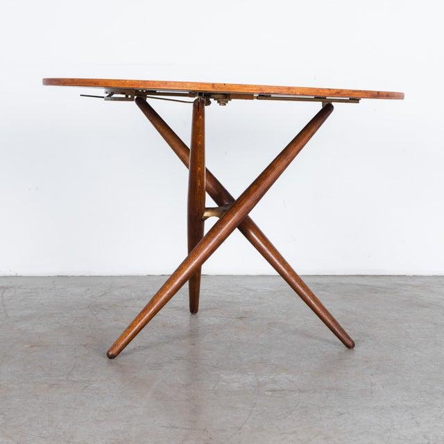 Mid-Century Modern Mid-Century Modern Jurg Bally Adjustable Wooden Table For Sale - Image 3 of 9