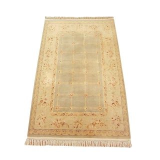 Indian Handwoven Modern Rug - 3′10″ × 6′