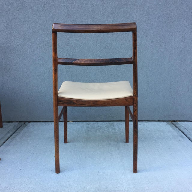 Sibast Møbler Danish Midcentury Rosewood Dining Room Chairs With Ivory Leather Seats - set of 6 For Sale - Image 4 of 11