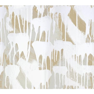 Contemporary Cloud Drip White Wallpaper For Sale