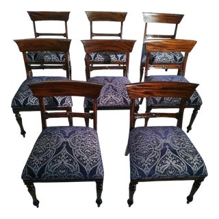 Reproduction Regency Dining Chairs- Set of 8 For Sale