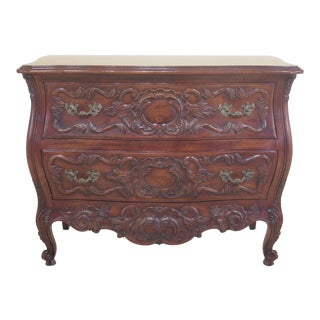 John Widdicomb French Louis XV Style Carved 2 Drawer Chest For Sale