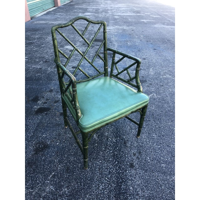 Antique Painted Malachite Arm Chair For Sale - Image 10 of 10