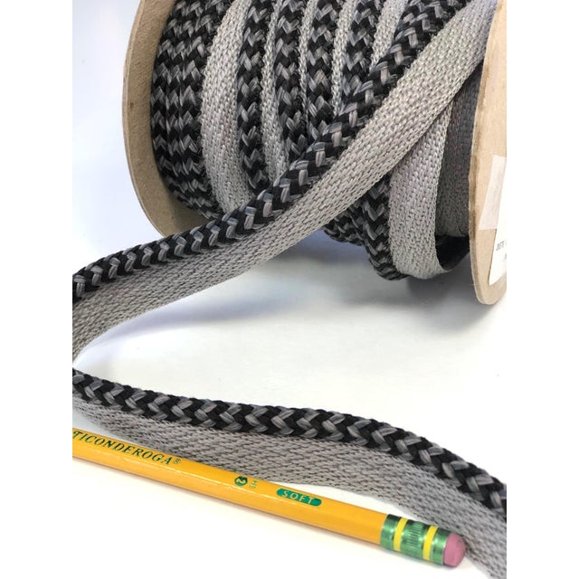 "Braided 1/4"" Indoor/Outdoor Cord in Charcoal & Gray For Sale - Image 9 of 10"