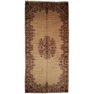 RugsinDallas Vintage Hand Knotted Wool Persian Kashan Rug - 10′7″ × 22′1″ For Sale