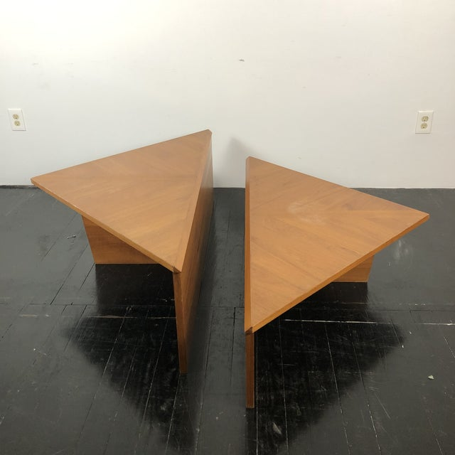 Danish Laurits M Larsen Teak Triangle Coffee Tables - a Pair For Sale - Image 13 of 13