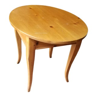 Lane Furniture Knott Pine End Table For Sale